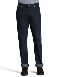 Ermenegildo Zegna Dark Indigo Roll-Up Jeans