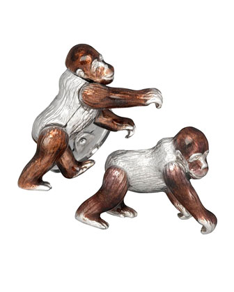 Moving Gorilla Cuff Links