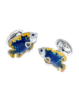 Jan Leslie Angelfish Cuff Links