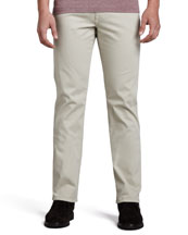 Ermenegildo Zegna Five-Pocket Gabardine Twill Pants, Beige