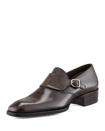 Gianni Monk-Strap Loafer, Black