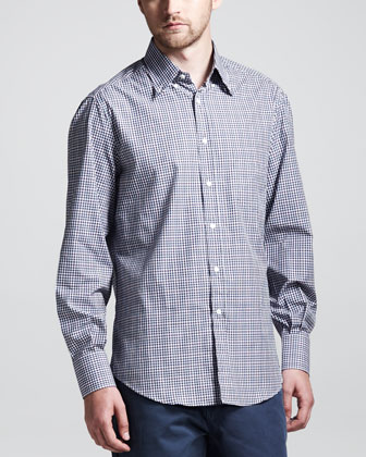 Basic Check Button-Down Shirt