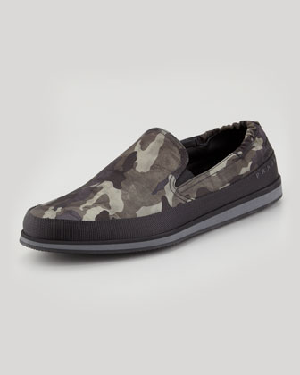 Camo Nylon Slip-On