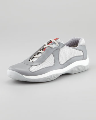 Nevada Leather Sneaker, Grey
