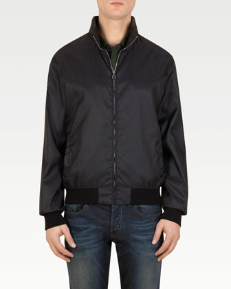 Mini GG Nylon Jacket, Black
