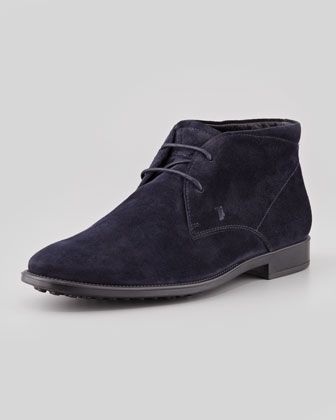 Suede Square Chukka, Navy
