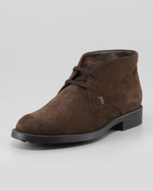 Suede Lace-Up Chukka Boot, Brown