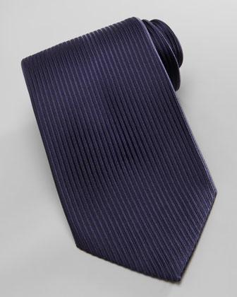 Tonal-Stripe Jacquard Tie, Navy