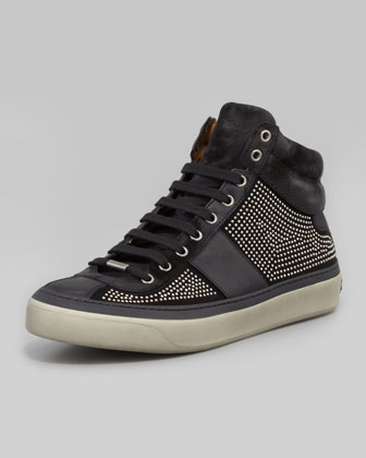Belgravia Mini-Studded High-Top Sneaker