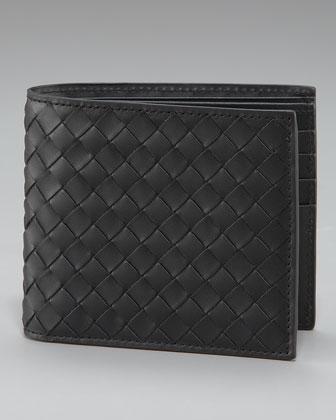 Basic Woven Wallet, Black