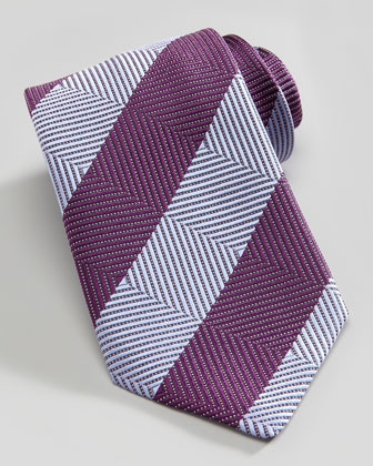 Grid Stripe Tie, Blue