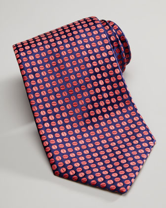 Beans Silk Tie, Navy/Red