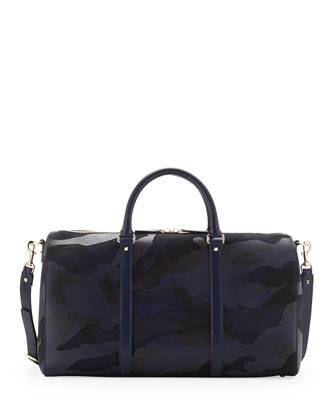 Men's Camouflage Small Duffel Bag, Blue
