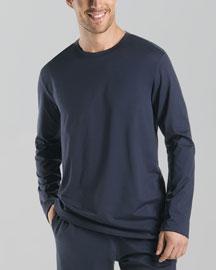 Night & Day Long-Sleeve Shirt, Black Iris