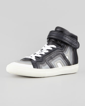 Multicolor Layered High-Top Sneaker