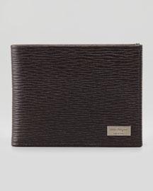 Revival Bi-Fold Leather Wallet, Brown