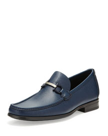 Regal Pebbled Leather Loafer, Navy