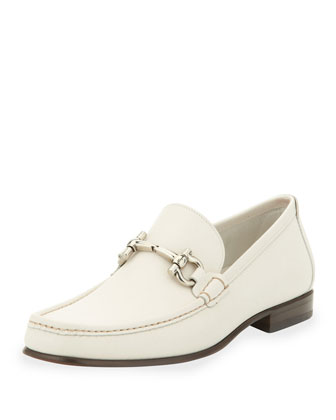 Giordano Leather Bit Loafer, White