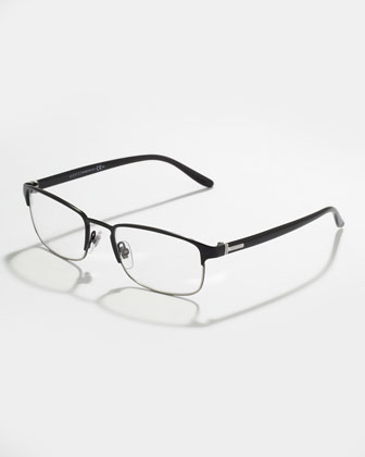 Black Palladium Square Fashion Glasses