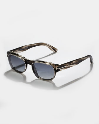 Havana Fashion Glasses with Clip, Gray