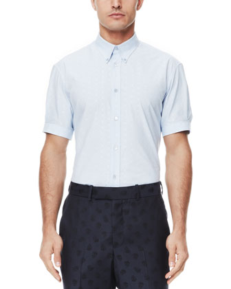 Skull Jacquard Short-Sleeve Shirt