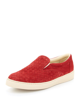 Woven Slip-On Shoe, Red