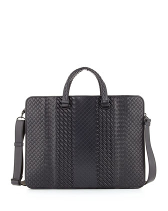 Intreccio Imperatore Briefcase, Navy