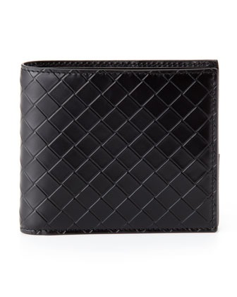 Scolpito Leather Wallet, Black