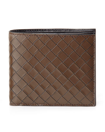 Scolpito Leather Wallet, Brown