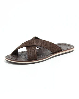 Matthew Viper-Print Sandal, Brown