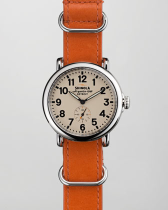 41mm Runwell NATO Strap Men's Watch, Orange