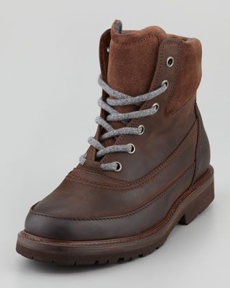 Waxed Leather Mountain Boot