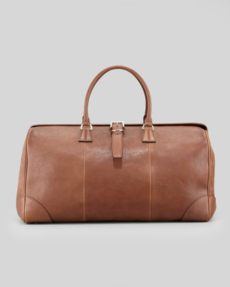 Large Leather Duffle/Doctor Bag, Cognac