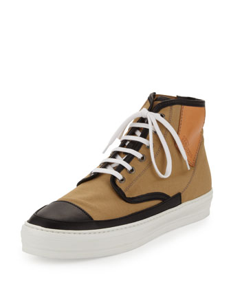 Jungle Men's High-Top Sneaker, Black/Sand