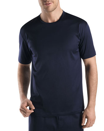 Sporty Crewneck Tee, Midnight Navy