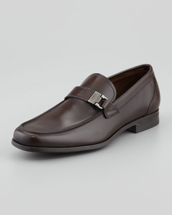 Tazio Leather Buckle Loafer