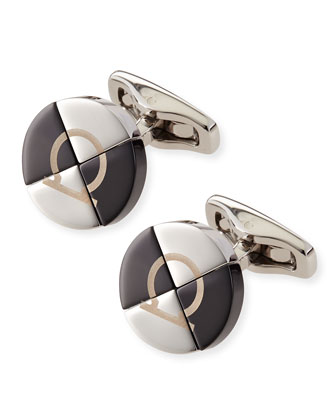 Round Gancini Cuff Links