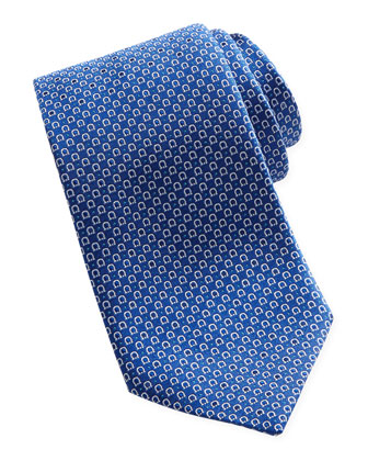 Woven Micro-Gancini Tie, Blue