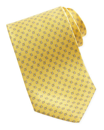 Spinning Top Silk Tie, Yellow