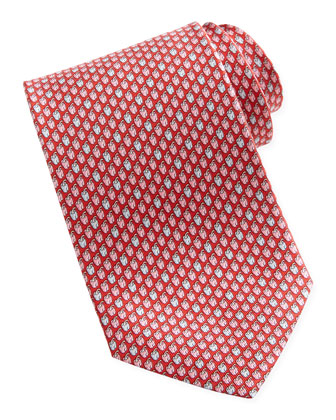 Chili Pepper Silk Tie, Red