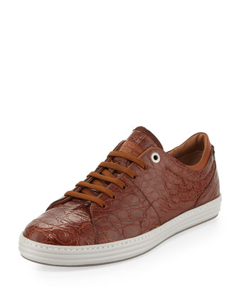 Riviera 2 Crocodile Low-Top Sneakers