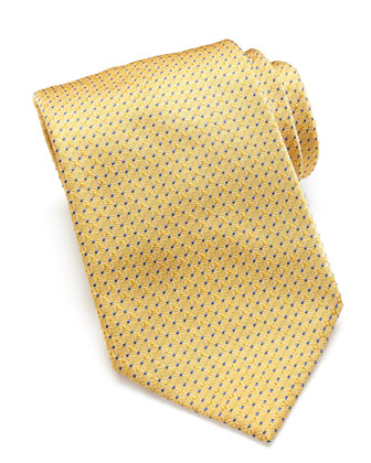 Woven Tonal-Links Tie, Yellow