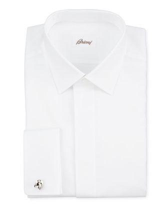 Oxford French-Cuff Dress Shirt, White