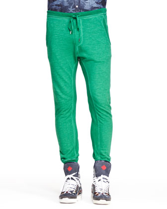 Drawstring Sweatpants, Green