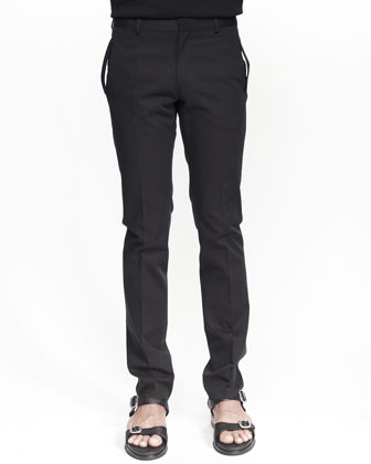 Slim Twill Military Trousers