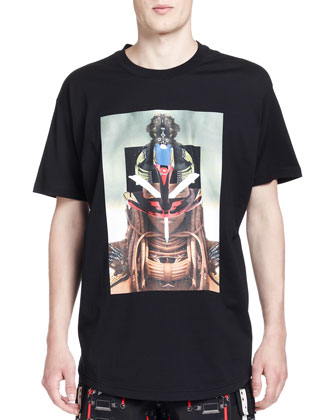 Girl & Robot Graphic Tee, Black