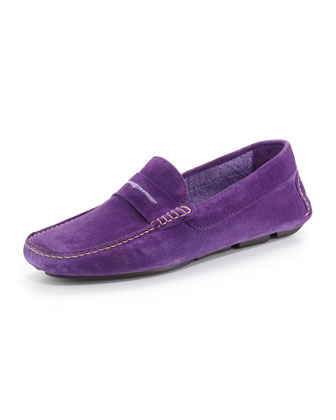 Men's Roadster Suede Driver Loafer, Purple