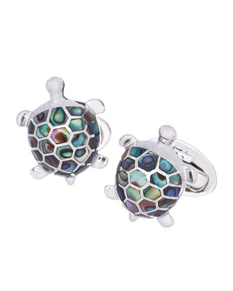 Abalone Turtle Cuff Links