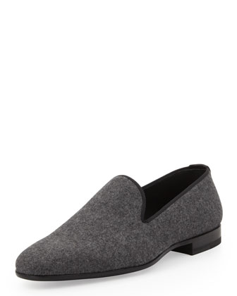 Flannel Venetian Loafer, Gray