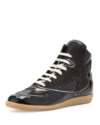 Contoured High-Top Sneaker, Black